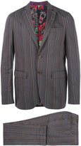 Etro striped two-piece suit - men - Silk/Cotton/Polyester/Wool - 52