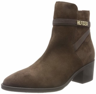 Tommy Hilfiger | Ladies Block Branding Suede Mid Boot | Not Water Resistant | Size 6.5 UK