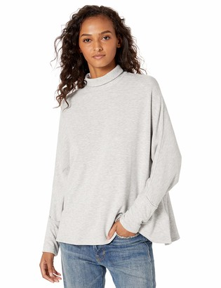 Majestic Filatures Women's French Terry Long Sleeve Relaxed Turtleneck