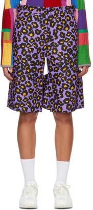 Comme des Garçons Homme Plus Purple Animal Shorts