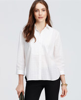 Ann Taylor Plaid Bib Shirt