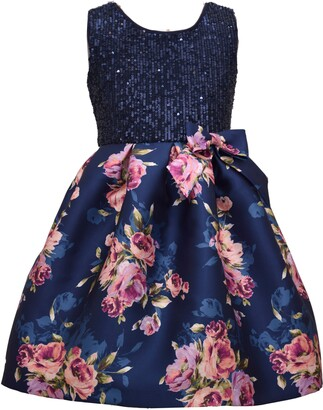 Iris & Ivy Kids' Sequin Bodice Mikado Dress