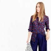 J.Crew Perfect shirt in cobalt leopard