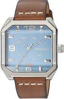 Diesel Men's DZ1824 Flat Top Leather Watch