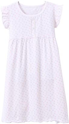ABClothing Girls' Short Sleeve Nightgown Nightdress Pyjamas 4-5 White