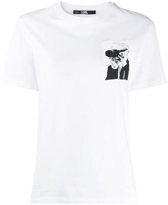 Karl Lagerfeld Paris Legend pocket T-shirt