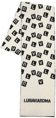Luisa Via Roma Lvr Logo Wool Scarf