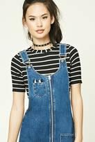 Forever 21 FOREVER 21+ Stripe Ribbed Knit Bodysuit