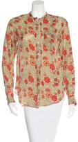 Etoile Isabel Marant Floral Print Long Sleeve Blouse