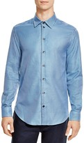 Armani Collezioni Houndstooth Classic Fit Button-Down Shirt