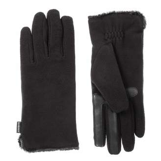 Isotoner Women's Fleece Touchscreen Gloves with Water Repellent Technology