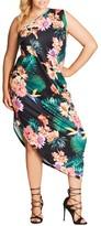 City Chic Plus Size Women's One Shoulder Maxi Dress