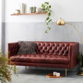 Modern Chesterfield Leather Loveseat
