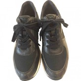 Michael Kors Navy Leather Trainers