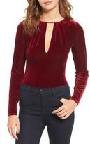 Willow & Clay Women's Keyhole Velvet Bodysuit