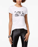 Armani Exchange Cotton Sequined-Logo Tee