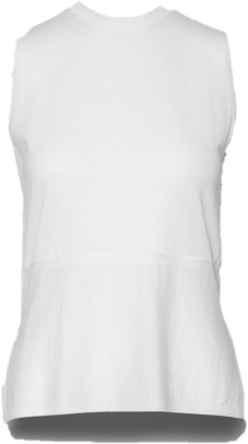 Cathrine Hammel - Twinset Sleeveless Top White Merino Wool - XS / White