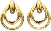 One Kings Lane Vintage Gold-Plated Double-Hoop Earrings