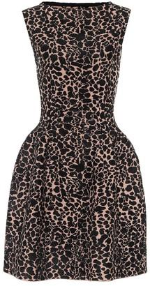 Alaia Printed stretch-crepe minidress