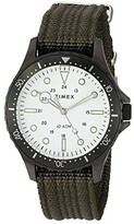 Timex 41 mm Navi XL 3-Hand (Gunmetal/White/Green) Watches