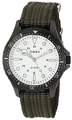 Timex 41 mm Navi XL 3-Hand (Silver/Blue/Blue) Watches
