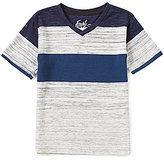 First Wave Little Boys 2T-7 Striped V-Neck Short-Sleeve Tee