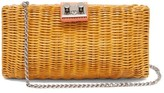 Rodo Leather-trimmed Wicker Clutch - Womens - Orange