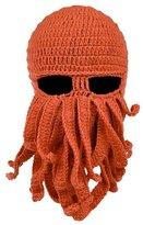 Bestqueen Winter Warm Octopus Hat Beard Beanie Knit Cap Windproof Funny Ski Mask