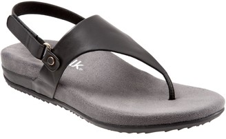 SoftWalk Plush Comfort Leather Sandals - Bolinas