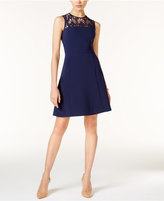 MICHAEL Michael Kors Laser-Cut Fit & Flare Dress