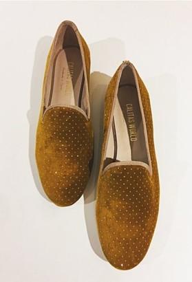 Calita Shoes - Yellow velvet shoes - 38 | velvet | yellow ochre - Yellow ochre
