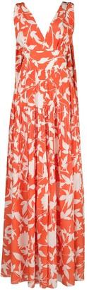 Oscar de la Renta floral-print evening dress