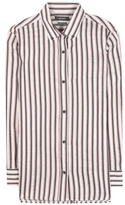 Isabel Marant Striped ramie and silk shirt
