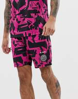 Asos 4505 4505 football short with 90s print and quick dry