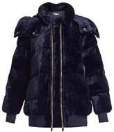 Stella McCartney Stefani oversized quilted-velvet jacket