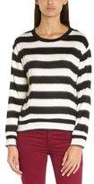 American Retro Women's MABO SWEATER Striped Round Collar Long sleeve Sweater - -
