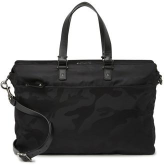 Valentino Leather & Nylon Double Handle Briefcase