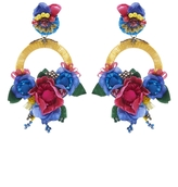 Ranjana Khan Multi Large Floral Drop Earrings