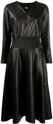 Karl Lagerfeld Paris Faux Leather Dress