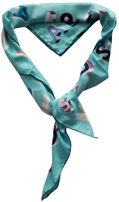 Versace Turquoise Polyester Scarves