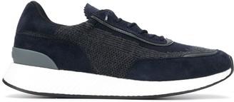 Ermenegildo Zegna Low Top Contrast Panel Sneakers