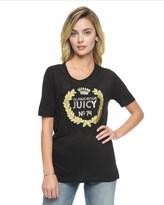 Juicy Couture Juicy Crest Applique Graphic Tee