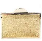 Franchi Gold Glitter Spencer Nude Clutch Handbag $198 90020488