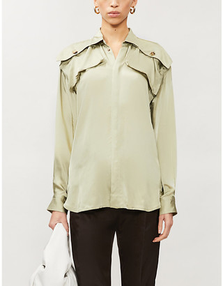 Bottega Veneta Patch-pocket satin shirt