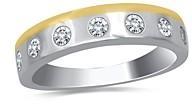 Bloomingdale's Men's Diamond 14K White and Yellow Gold Band, 0.50 ct. t.w. - 100% Exclusive