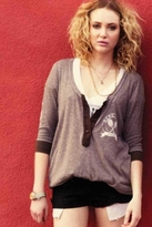Rebel Yell Tennis Henley in Slate