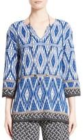 St. John Women's Kiara Geo Knit Tunic