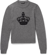 Dolce & Gabbana - Crown Intarsia Wool Sweater