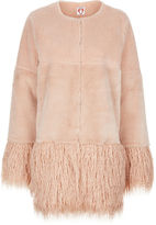 Shrimps Blush Faux Fur Porgie Coat