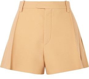 Chloé Pleated Wool-blend Shorts